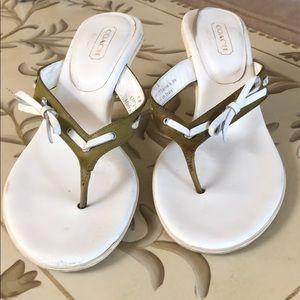 Coach Sandal Heel Size 9.5